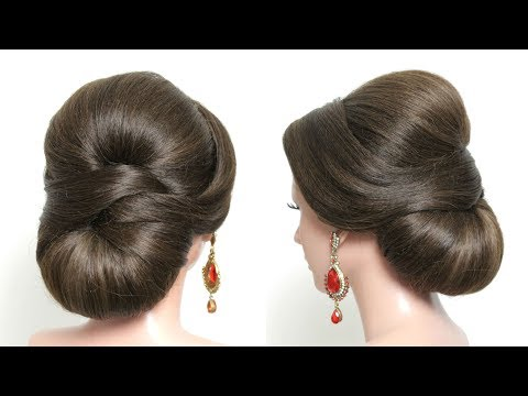 bridal-hairstyle-for-long-medium-hair.-elegant-wedding-updo-tutorial