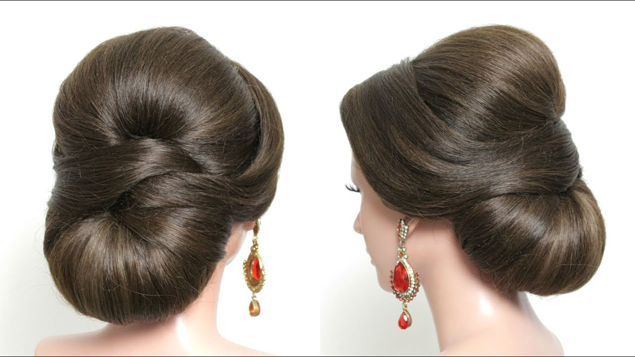 Bridal Hairstyle For Long Medium Hair Elegant Wedding Updo Tutorial