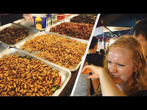 Eating BUGS at Huge Thailand Night Market + Coffee with MARK WIENS!
