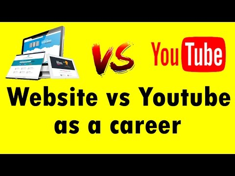 Website vs Youtube as a career in india