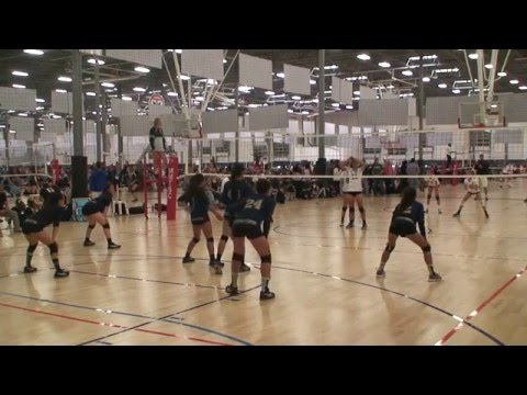 Offshore Volleyball Club 13-1 Girls vs Seal Beach VBC 13-Marcelo Match1