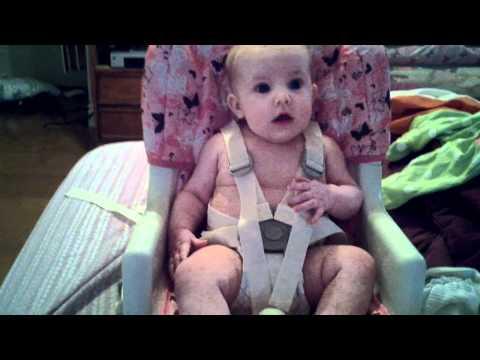 Allisa In High Chair.