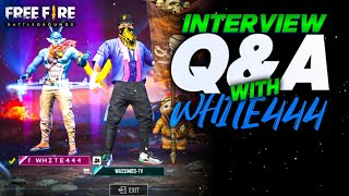 INTERVIEW WITH WHITE444 II  DOES HE SPEAK FOR THE FIRST TIME? HE LEFT OP !