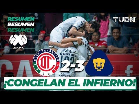 Resumen y Goles | Toluca 2 - 3 Pumas | Liga Mx - J6 CL-2020 | TUDN