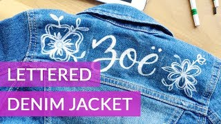 Custom Denim Jacket - How to Hand Letter a Jacket