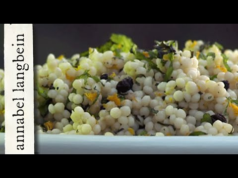 Israeli Couscous With Currants And Mint