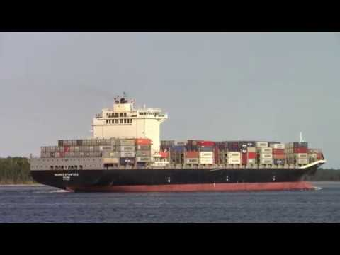 Container Ship SEAMAX STAMFORD Outbound Halterm - Halifax, NS, Canada