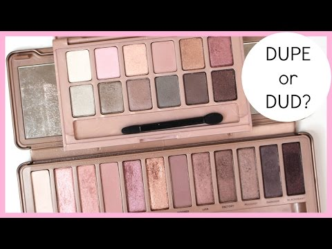 Maybelline The Blushed Nudes vs Urban Decay Naked3