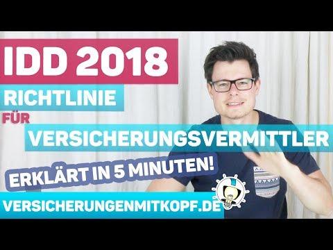IDD Versicherungsvertriebsrichtlinie erklärt in 5 Minuten | Was ändert sich 2018?
