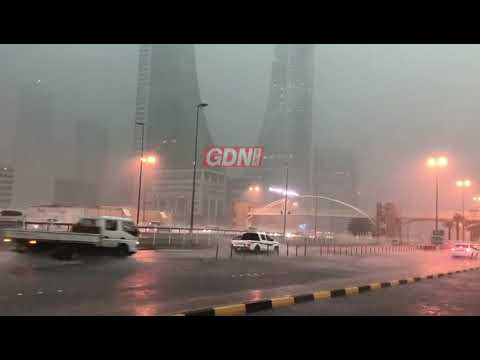 Heavy showers in Bahrain Financial Harbour