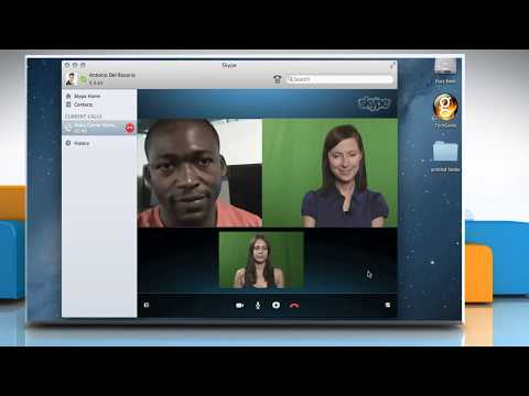 How To Make A Group Video Call Using Skype® On A Mac® OS X™