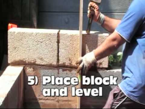 Easy, how to build a concrete block wall, a 6' block is used, by ...