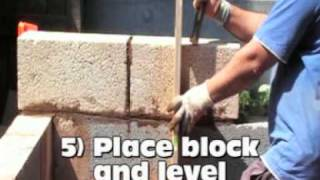 """Easy, How To Build A Concrete Block Wall, A 6"""" Block Is Used, By Rahgsa"""