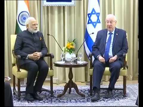 PM Modi holds talks with President Reuven Rivlin of Israel in Jerusalem, Israel