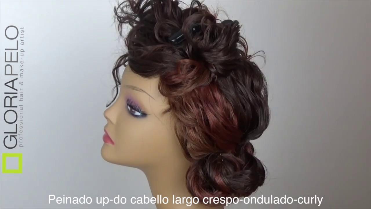 Peinado Cabello Ondulado Recogido Look Natural Up Do Youtube