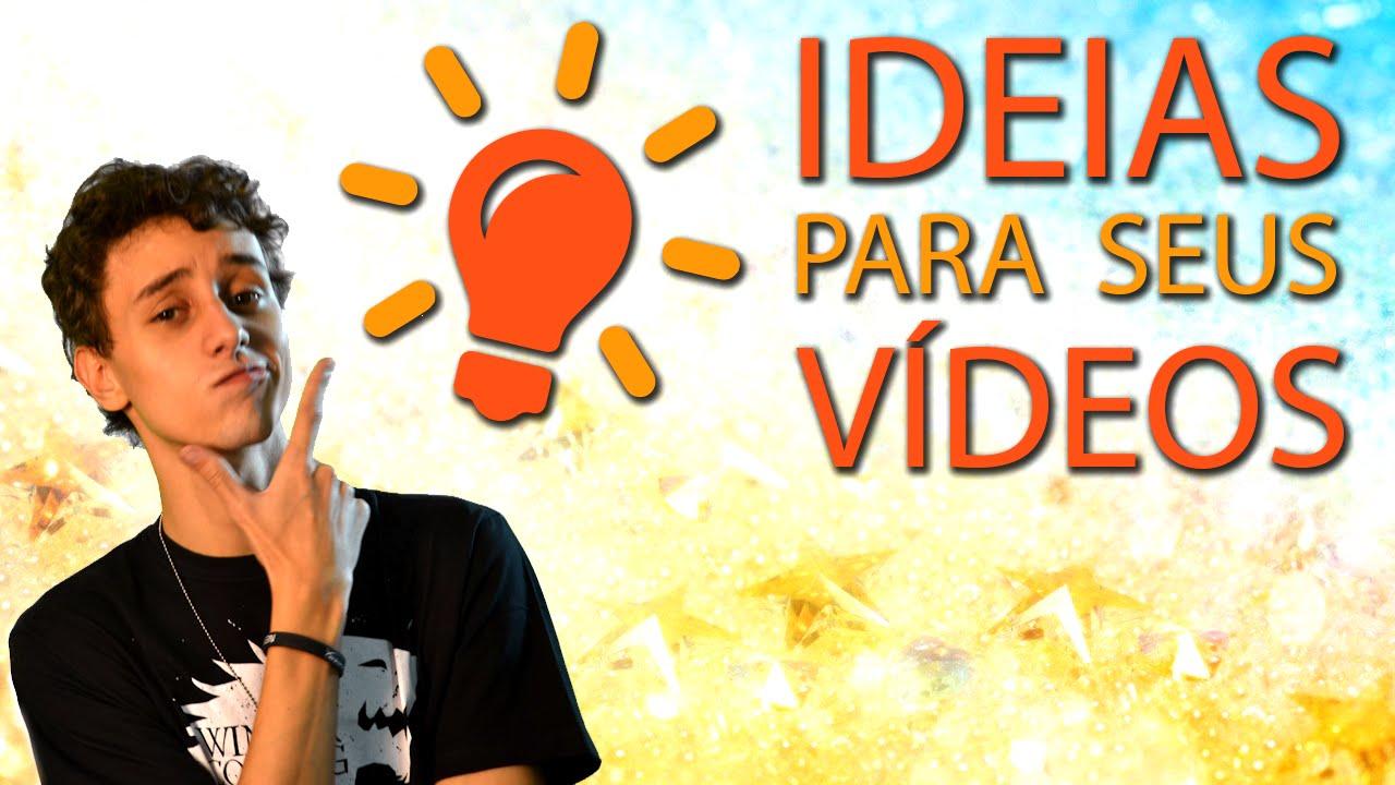 Dicas de ideias para vídeo  Escola para youtubers  YouTube