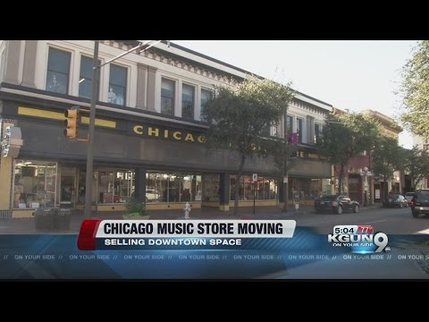 Chicago Music Store stelling downtown space
