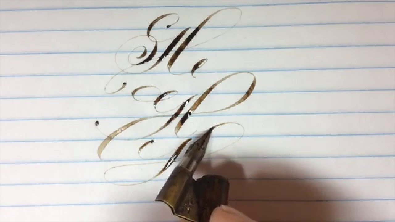 Real Time Pointed Pen Calligraphy Practice