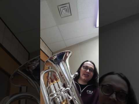 Concert Eb, Ab, and F major scales on the euphonium
