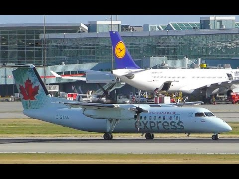 Air Canada Express Bombardier Dash 8-300 Landing at YVR