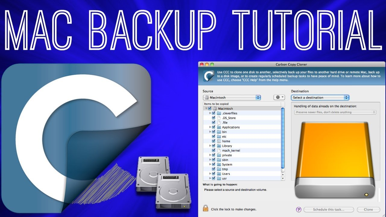 how to back up your mac carbon copy cloner youtube