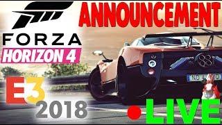 (Full livestream) FORZA HORIZON 4 ANNOUNCEMENT LIVE REACTION!!!!! E3 Microsoft Conference Reaction!