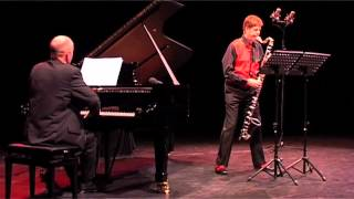 """""""As for bass clarinet and piano"""" by Andrew Schultz"""