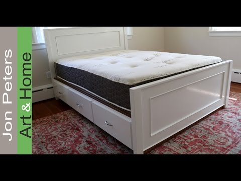 How To Build A Platform Storage Bed With Drawers Youtube