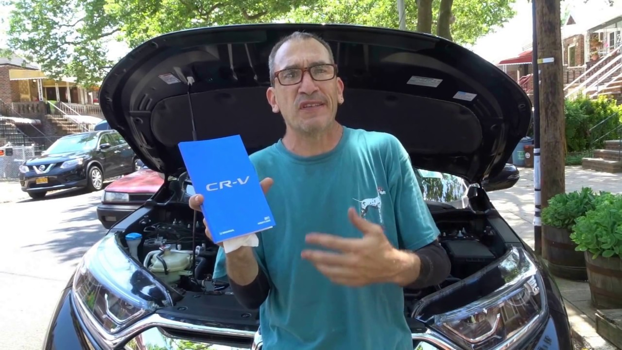 2017 Honda CRV 1.5L Turbo First oil change - YouTube