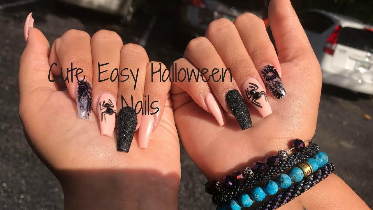 Cute Simple Halloween Nails | Kristina Kouture - YouTube