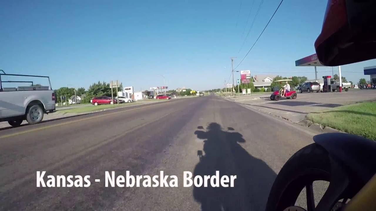 long flat ride through the kansas-nebraska border