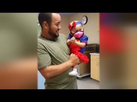 1-Year-Old Dressed as Supergirl to Ring Bell Celebrating the End of Chemotherapy