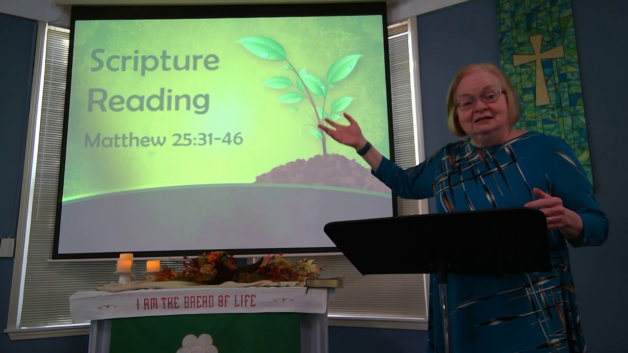 """November 22, 2020 ~ Rev. Julia Price ~ """"In the Fold with Sheep and Goats"""""""