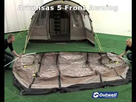 & How to pitch the Outwell Arkansas 5 Front Awning - YouTube