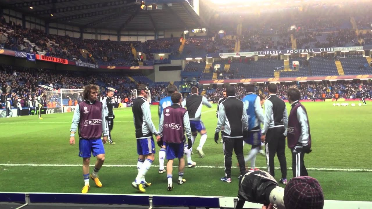 Chelsea vs Rubin Kazan april 2013 Warmup before the game at Stamford bridge