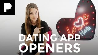 5 best dating app opening lines- Love Bites with Emily Hartridge