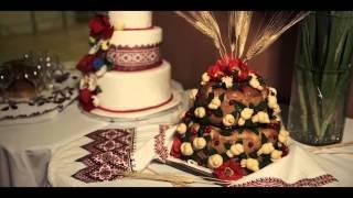 Русско - Украинская свадьба 2014. Свадебное платье из Павлопосадских платков.