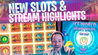 NEW SLOTS & NICE WINS! Stream Highlights Inc Wild Worlds & Wolf Legend