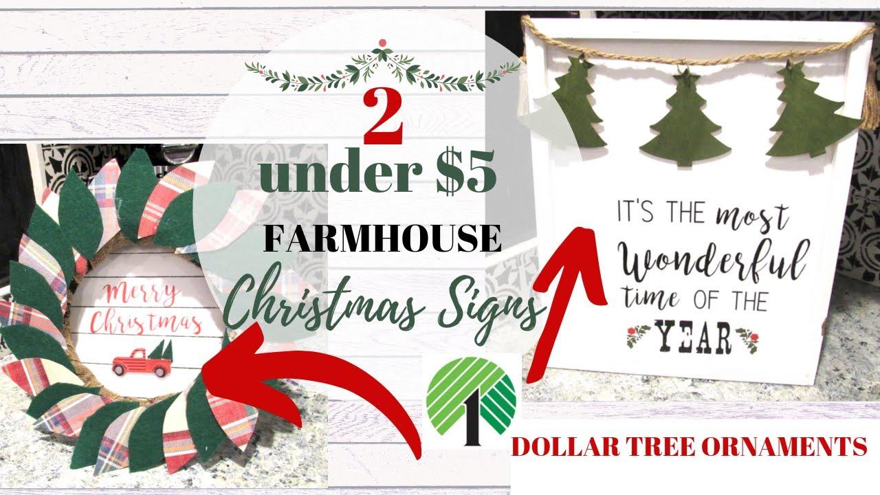 2 Farmhouse Christmas Diy Signs Hobby Lobby Inspired Easy Diy Signs Youtube