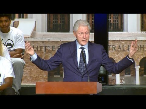 Pres. Bill Clinton speaks about the Little Rock Nine & impact 60 years later