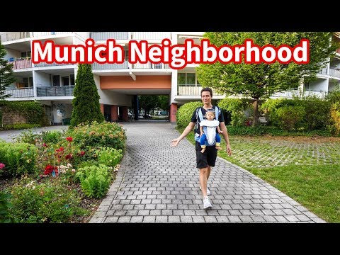Munich Neighborhood Tour - Living In Germany, Supermarket, Parks, And Beer Garden!