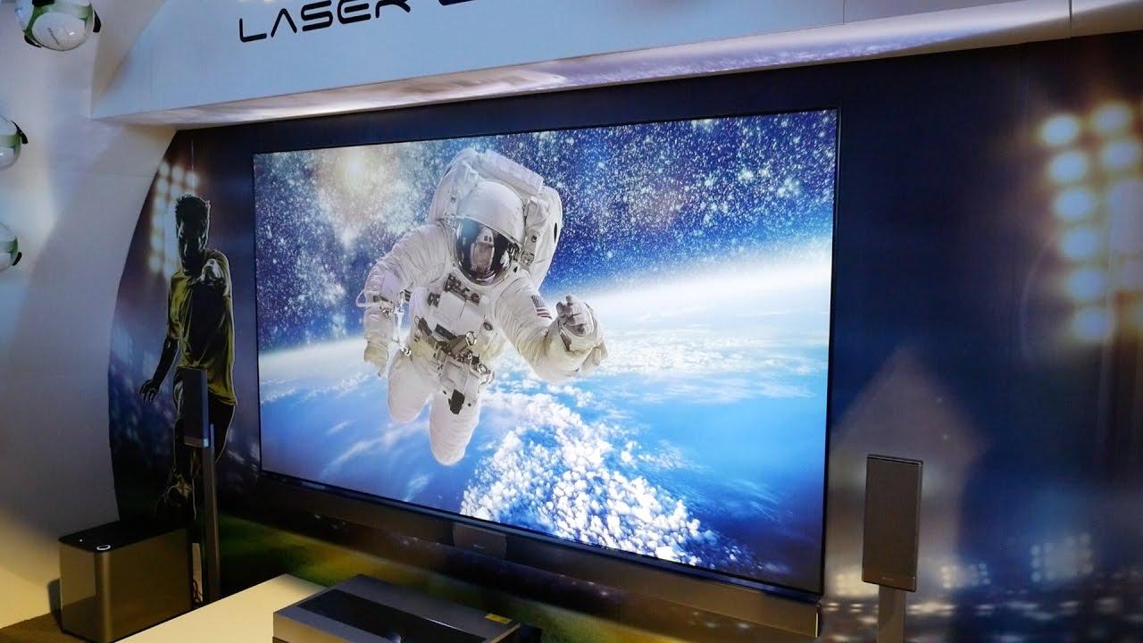 hisense laser cast 4k tv at ces youtube. Black Bedroom Furniture Sets. Home Design Ideas