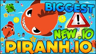 BECOMING THE BIGGEST FISH IN THE NEW BEST .IO GAME - PIRANH.IO (NEW GAMES LIKE AGAR.IO / SLITHER.IO)