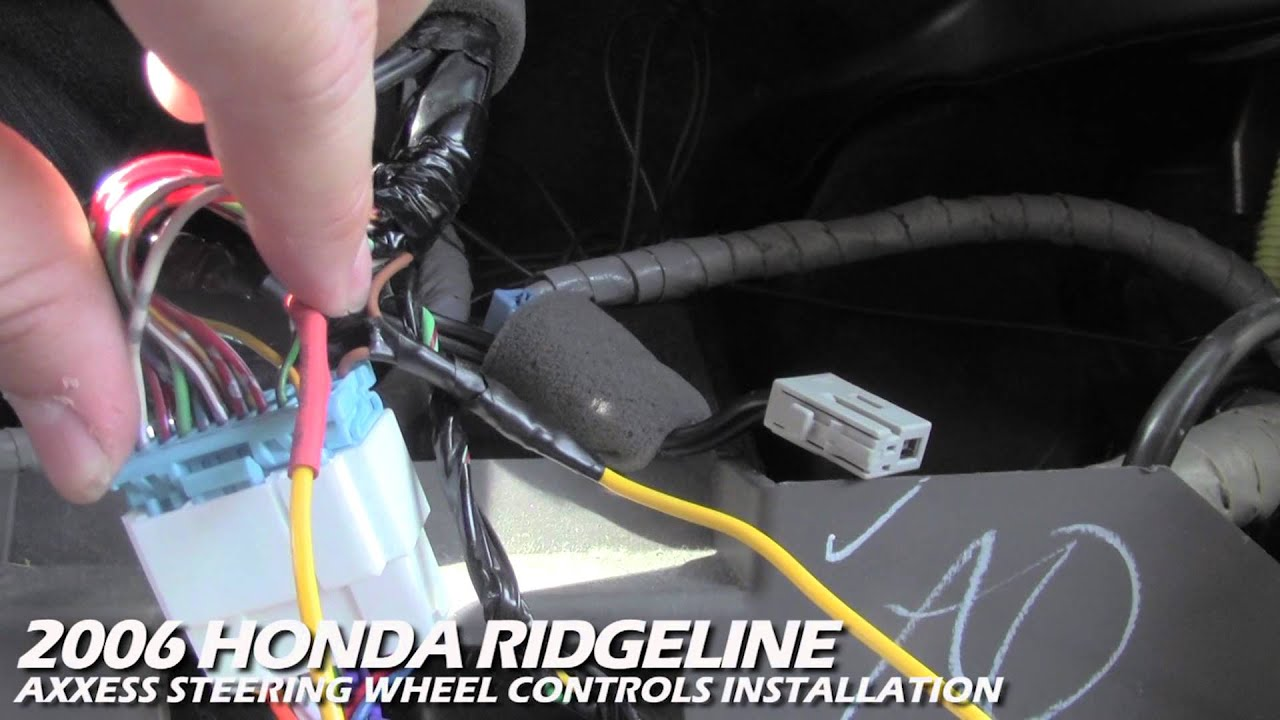 bmw e46 audio wiring diagram electrical plug x and y axxess steering wheel control installation | honda ridgeline aswc - youtube