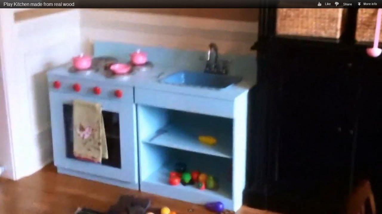 play kitchen made from real wood/built to last. stepstep