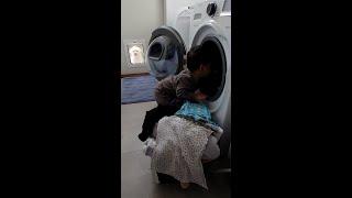 혼자 세탁기 돌리는 …