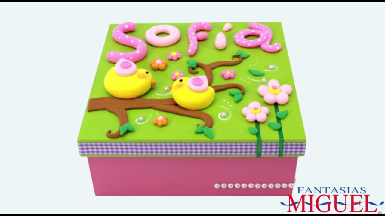 Caja para regalo con fomi moldeable youtube - Regalos para hacer manualidades ...