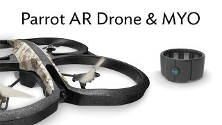 Demo: Parrot AR.Drone 2.0 X Thalmic Myo armband