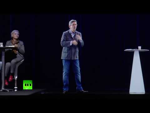 French candidate campaigns as a hologram: Melenchon uses projection to attend two rallies at a time