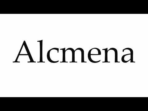 How to Pronounce Alcmena